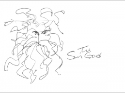 Preparatory sketch: 'The Sun God'